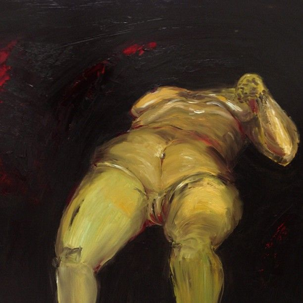 oil painting for fat woman